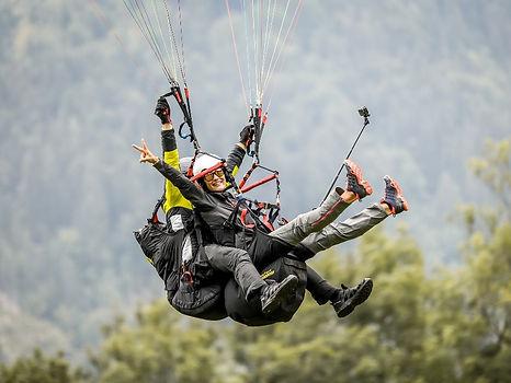 Tandem Gleitschirm Landung Paragleiten Ablauf Tom2Fly