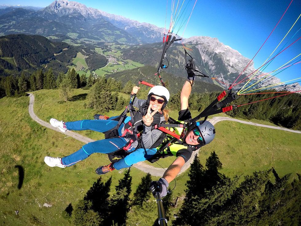 Tom2Fly Panorama Gleitschirmflug Tandem Werfenweng