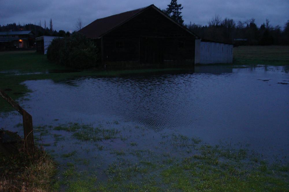 Seedpod Farm Barn Flooding 2015