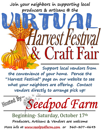 Seedpod Farm VIRTUAL Harvest Festival &