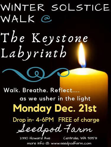 Winter Solstice Keystone Labyrinth 2020.