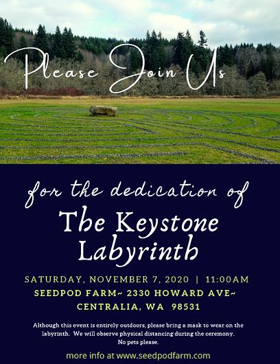 Dedication of The Keystone Labyrinth 202