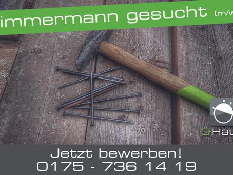 Zimmermann (m/w/d) gesucht
