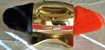 Electric Shoe Shine Machine: Deluxe Twin Brass