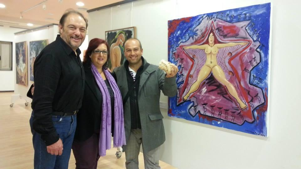 Con Isidro Novo e Xosé Iglesias
