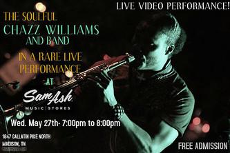 Rare live performance at Sam Ash May 27th!