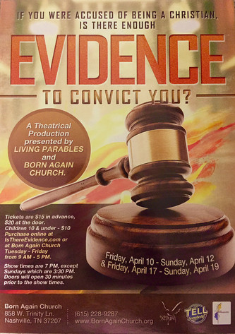 """Watch Chazz Williams' acting performance in the play """"Evidence"""" April dates."""