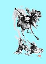martial-arts-japan-warrior-aikido-poster