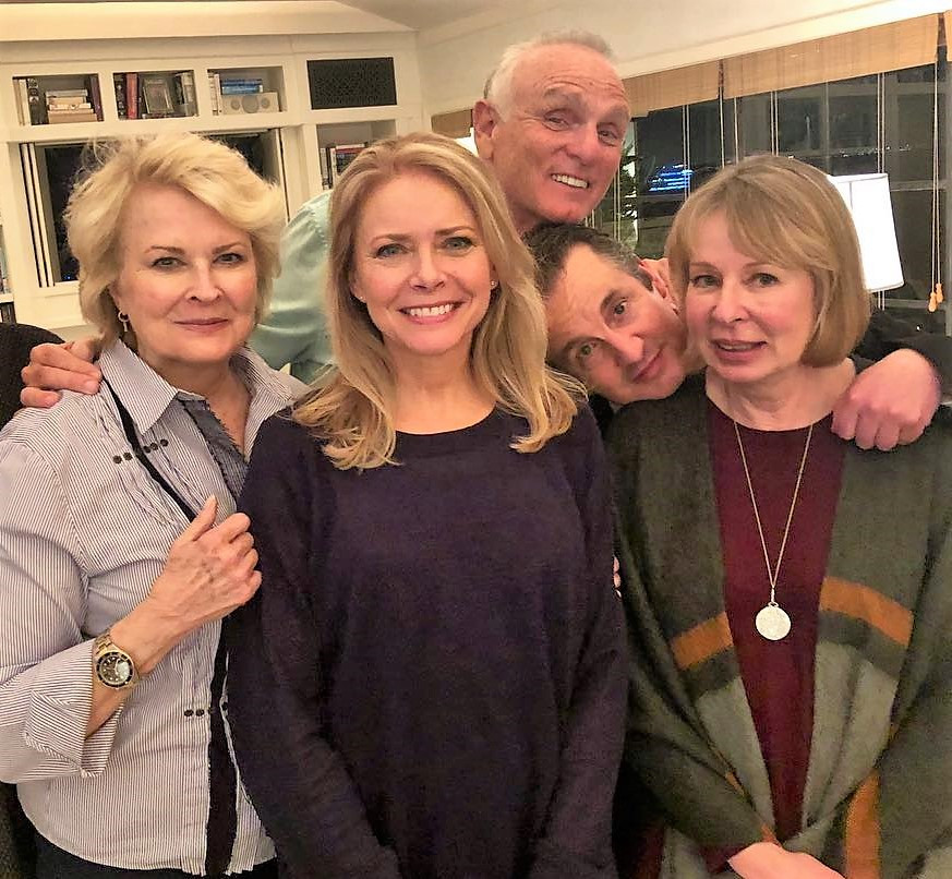 Murphy Brown cast with Creator/EP Diane English