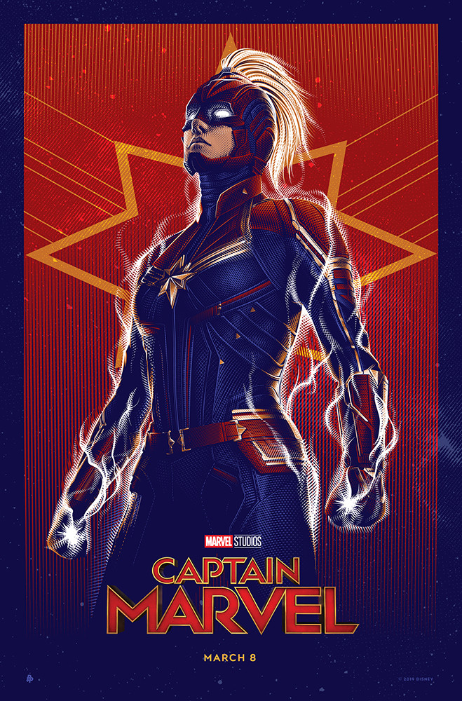 Captain Marvel Art by Tracie Ching