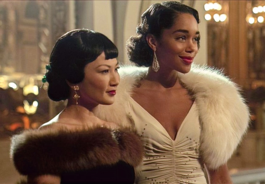 Michelle Krusiec (as Anna May Wong) and Laura Harrier