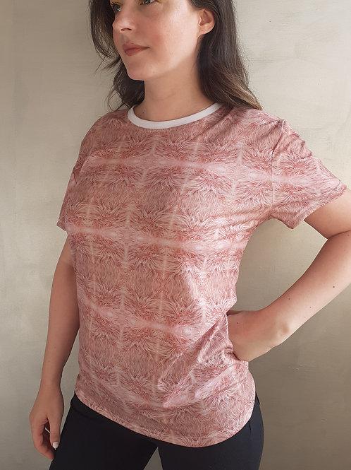 Pink fur t-shirt