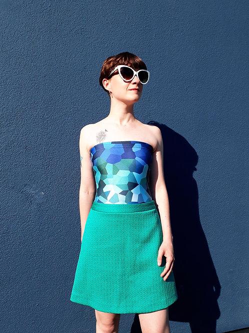 Kaleidoscope swimsuit (strapless)