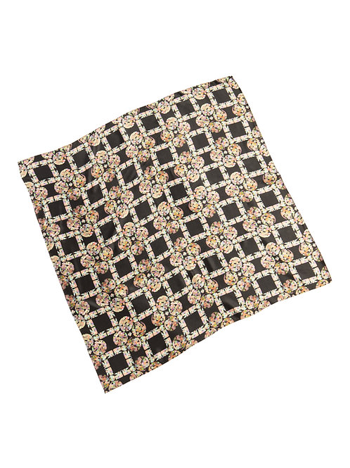 Diamond Bubble- print scarf