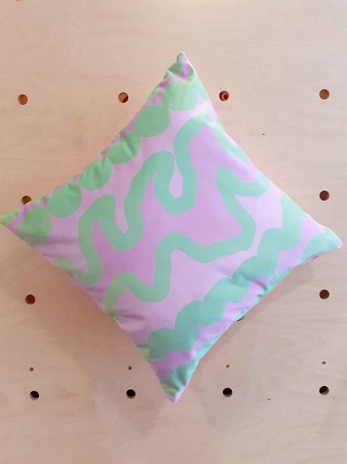 Bubblegum  - velvet cushion