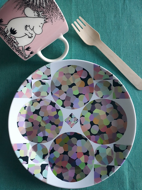 KOTA plate set (4)- Diamond Bubble