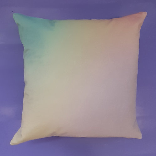 Candyfloss velvet cushion