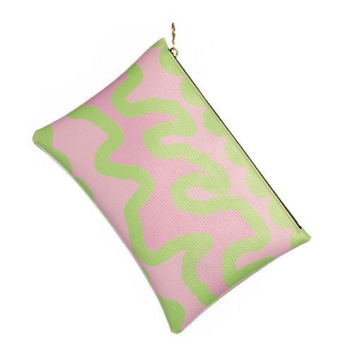Bubblegum - clutch bag (leather/vegan)