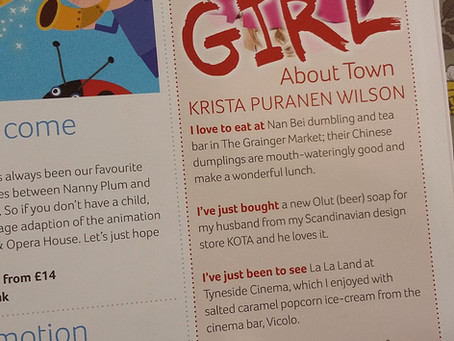 Krista, Girl about town!