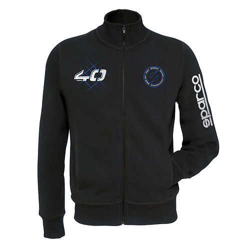 Sudadera SPARCO FULL ZIP 40TH