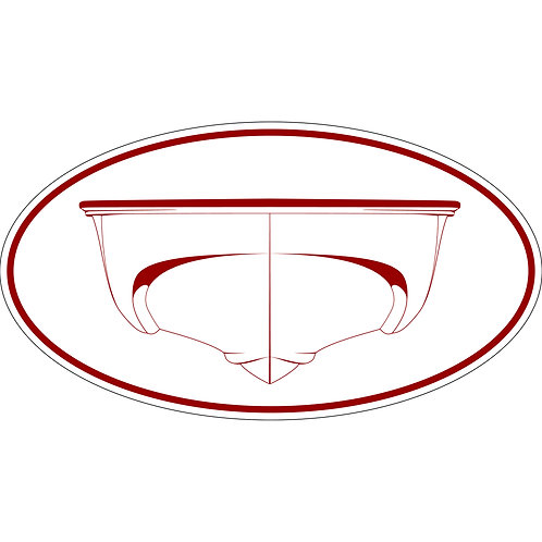 1 3x6 Decals Classic Outrage and Revenge Hulls Red