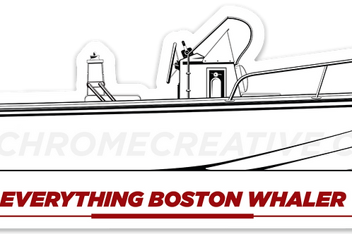 Everything Boston Whaler Outrage Hull Decal
