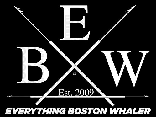 "5"" x 3.75"" Black and White EBW Crossed Harpoons Decal"