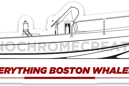 Everything Boston Whaler 70's Banana Hull Outrage Decal