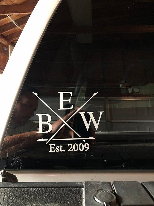 EBW Harpoon Window Decal