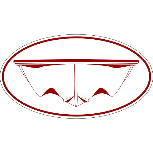 1 3x6 Decal 13' / 16' Non Smirked Hull decal Red