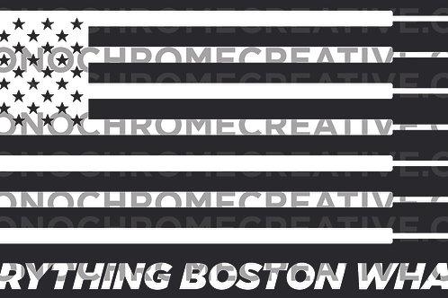 B&W Everything Boston Flag Hull Decal