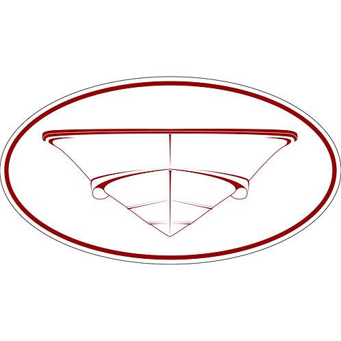 1 3x6 Decal Post Classic 150 hulls / 170 / 190 / 210 Montauk Red