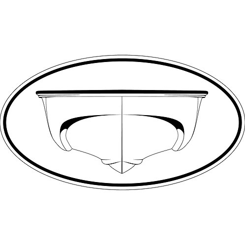 1 3x6 Decals Classic Outrage and Revenge Hulls Black