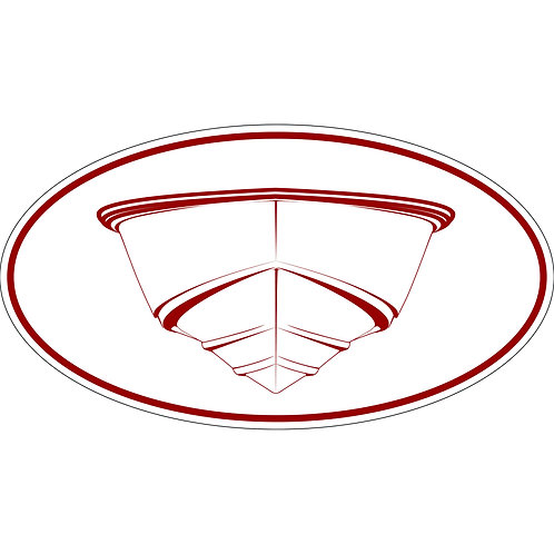 1 3x6 Decal 3rd Generation Post Classic Hulls Red