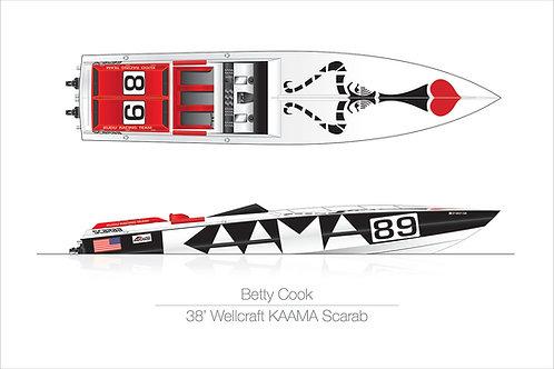 20x30 Betty Cook KAAMA Scarab Print