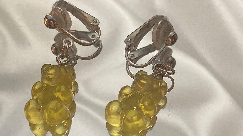 Gelbe Gummibärchen Clip Ohringe (vorbestellen)