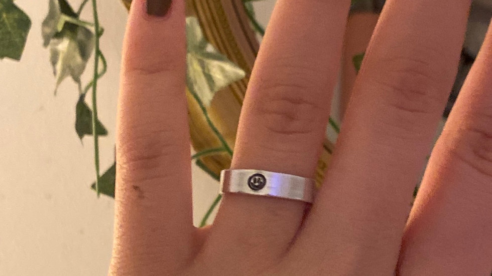 Dünner Smilie Ring