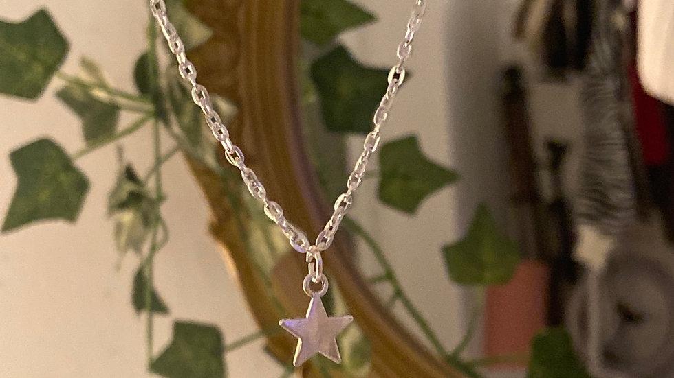 Silber Sternen Kette