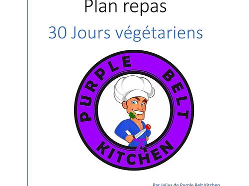Plan repas végétarien