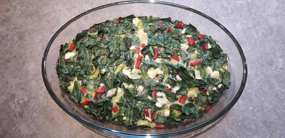 recette oeufs féta légumes