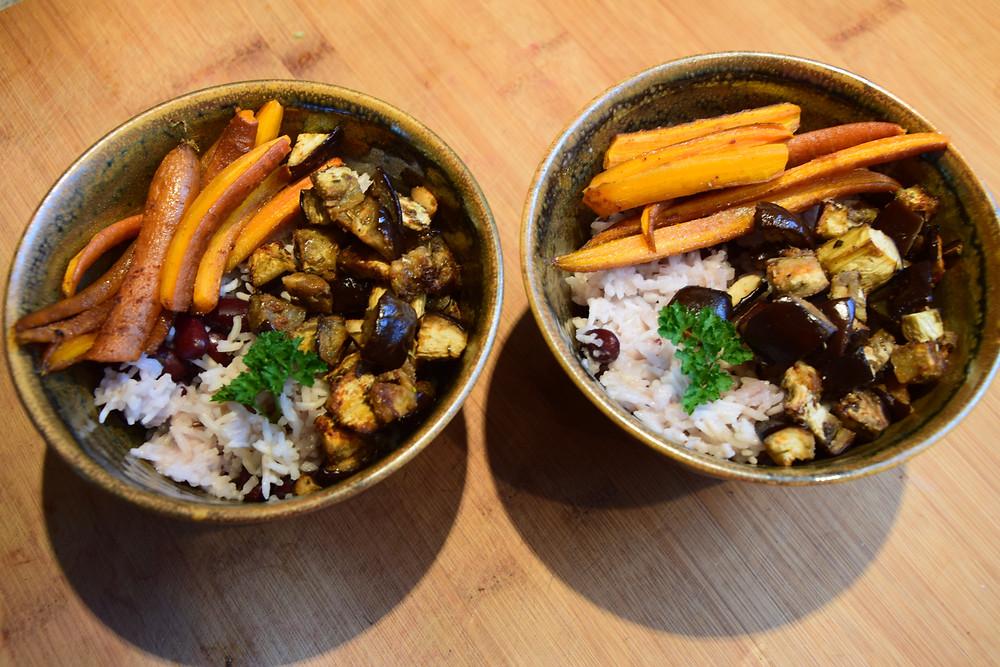 recette riz aubergines