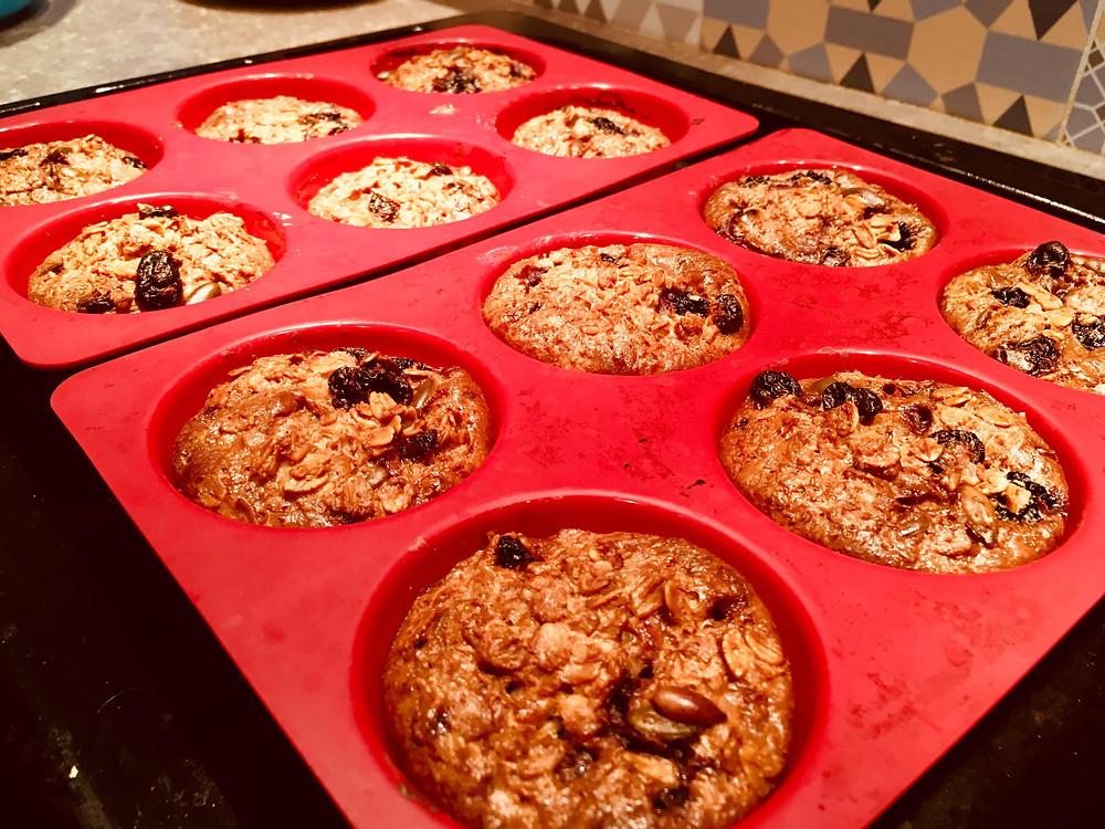 muffins avoine fruits secs