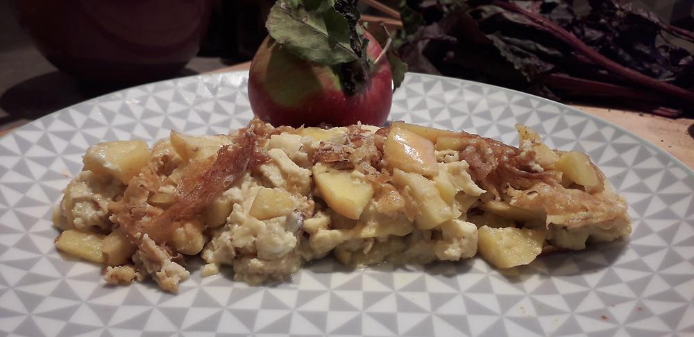 omelette à la pomme