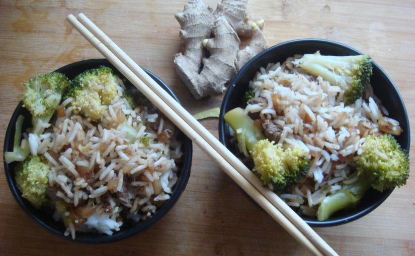 boeuf riz brocoli gingembre