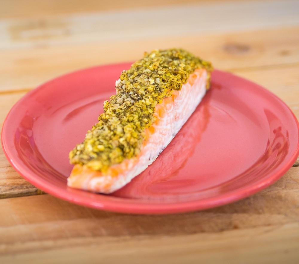 recette saumon pané