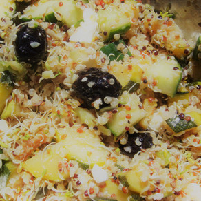 Salade Quinoa-Féta-Olives