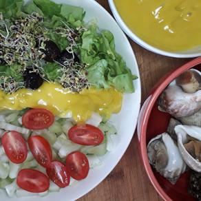 Bulots et salade