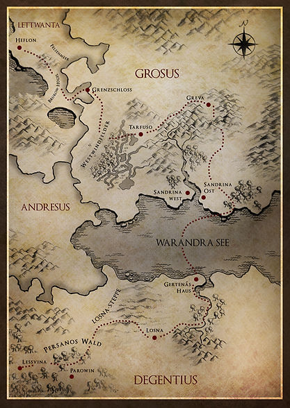 Karte Trojans Reise