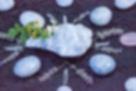 Virginie Daulard - mandala - méditations - pierres et minéraux - lithothérapie - calcite bleue