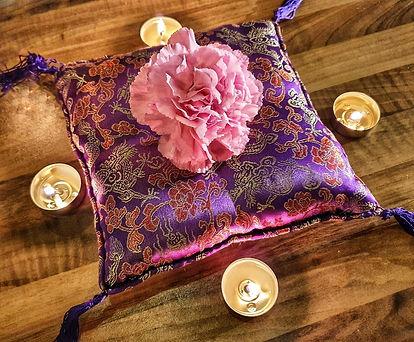 photo bougies fleurs - Virginie Daulard